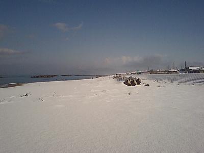 雪の塩谷浜①