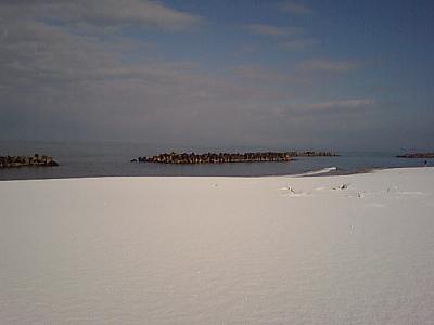 雪の塩谷浜②